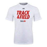Under Armour White Tech Tee-Track and Field Polygon Texture