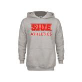 Youth Grey Fleece Hood-SIUE