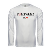 Syntrel Performance White Longsleeve Shirt-Volleyball w/ Ball