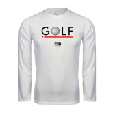 Syntrel Performance White Longsleeve Shirt-Golf Star and Stripes