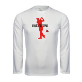Performance White Longsleeve Shirt-Hole In One