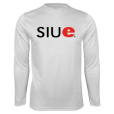 Performance White Longsleeve Shirt-SIUE