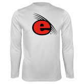 Performance White Longsleeve Shirt-e Slash Mark