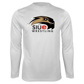 Performance White Longsleeve Shirt-Wrestling