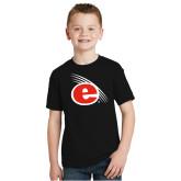 Youth Black T Shirt-e Slash Mark