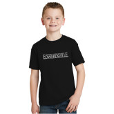 Youth Black T Shirt-Institutional Mark