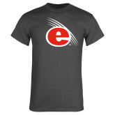 Charcoal T Shirt-e Slash Mark