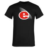 Black T Shirt-e Slash Mark