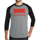 Grey/Black Tri Blend Baseball Raglan-SIUE