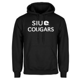 Black Fleece Hoodie-SIUE Cougars Stacked