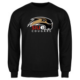 Black Fleece Crew-SIUE Cougars Official Logo