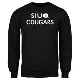 Black Fleece Crew-SIUE Cougars Stacked