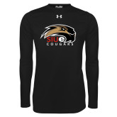 Under Armour Black Long Sleeve Tech Tee-SIUE Cougars Official Logo