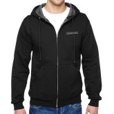 Black Fleece Full Zip Hoodie-Institutional Mark