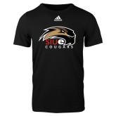 Adidas Black Logo T Shirt-SIUE Cougars Official Logo