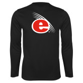 Performance Black Longsleeve Shirt-e Slash Mark