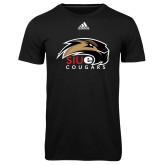 Adidas Climalite Black Ultimate Performance Tee-SIUE Cougars Official Logo