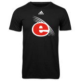 Adidas Climalite Black Ultimate Performance Tee-e Slash Mark