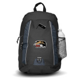 Impulse Black Backpack-SIUE Cougars Official Logo