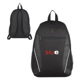 Atlas Black Computer Backpack-SIUE
