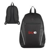 Atlas Black Computer Backpack-SIUE