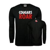 Black Long Sleeve TShirt-Cougars Roar
