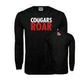 Black Long Sleeve TShirt-Cougars Roar