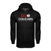 Under Armour Black Performance Sweats Team Hoodie-SIUE Cougars Stacked