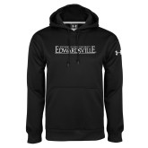 Under Armour Black Performance Sweats Team Hoodie-Institutional Mark