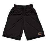 Russell Performance Black 9 Inch Short w/Pockets-SIUE Cougars Official Logo