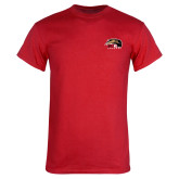 Red T Shirt-SIUE Cougars Official Logo