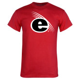 Red T Shirt-e Slash Mark