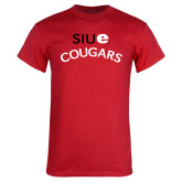 Red T Shirt-SIUE Arched Cougars