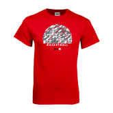 Red T Shirt-Basketball Texture Ball