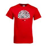 Red T Shirt-Basketball Texture Ball