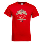 Red T Shirt-2016 Womens Tennis Conference Champions