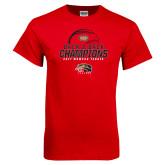 Red T Shirt-2017 Womens Tennis Back 2 Back Champions