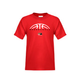 Youth Red T Shirt-Basketball Half Ball