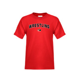 Youth Red T Shirt-Wrestling Arched