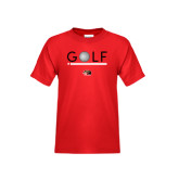 Youth Red T Shirt-Golf Star and Stripes