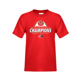 Youth Red T Shirt-2016 Womens Soccer Champions