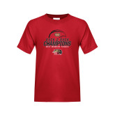 Youth Red T Shirt-2017 Womens Tennis Back 2 Back Champions