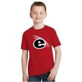 Youth Red T Shirt-e Slash Mark