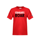 Youth Red T Shirt-Cougars Roar