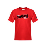 Youth Red T Shirt-Cougars #SIUENATION