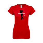 Next Level Ladies SoftStyle Junior Fitted Red Tee-Hole In One