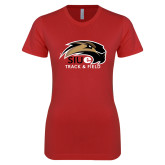 Next Level Ladies SoftStyle Junior Fitted Red Tee-Track and Field