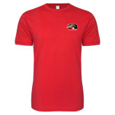 Next Level SoftStyle Red T Shirt-SIUE Cougars Official Logo