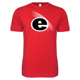 Next Level SoftStyle Red T Shirt-e Slash Mark