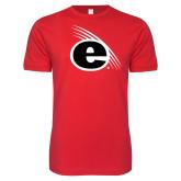 Next Level SoftStyle Red T Shirt-e Slash Mark